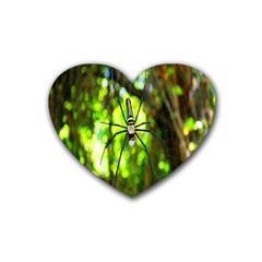 Spider Spiders Web Spider Web Rubber Coaster (Heart)