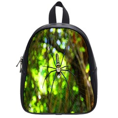 Spider Spiders Web Spider Web School Bags (Small)