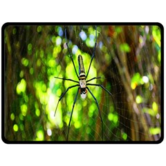 Spider Spiders Web Spider Web Double Sided Fleece Blanket (large)