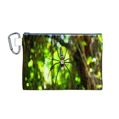 Spider Spiders Web Spider Web Canvas Cosmetic Bag (m)