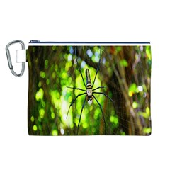Spider Spiders Web Spider Web Canvas Cosmetic Bag (l)