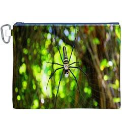 Spider Spiders Web Spider Web Canvas Cosmetic Bag (xxxl)