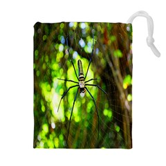 Spider Spiders Web Spider Web Drawstring Pouches (Extra Large)