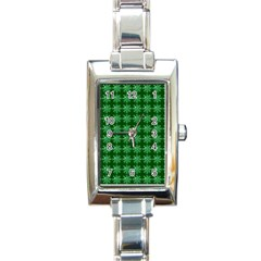 Snowflakes Square Rectangle Italian Charm Watch