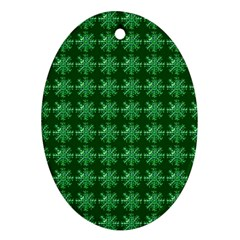 Snowflakes Square Ornament (oval)