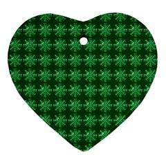 Snowflakes Square Ornament (Heart)