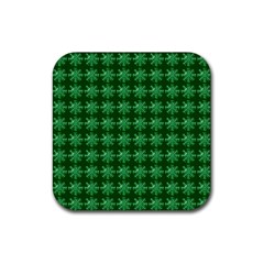 Snowflakes Square Rubber Square Coaster (4 Pack)
