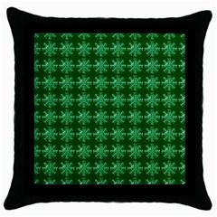 Snowflakes Square Throw Pillow Case (black)