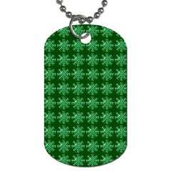 Snowflakes Square Dog Tag (One Side)