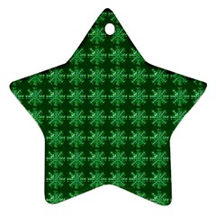 Snowflakes Square Star Ornament (two Sides)