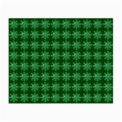 Snowflakes Square Small Glasses Cloth (2-Side)
