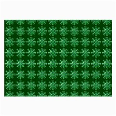 Snowflakes Square Large Glasses Cloth (2-Side)