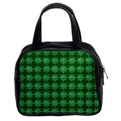 Snowflakes Square Classic Handbags (2 Sides)