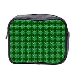 Snowflakes Square Mini Toiletries Bag 2-Side