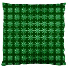 Snowflakes Square Large Cushion Case (Two Sides)
