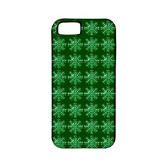 Snowflakes Square Apple Iphone 5 Classic Hardshell Case (pc+silicone)