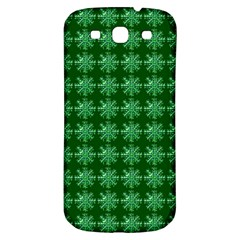 Snowflakes Square Samsung Galaxy S3 S III Classic Hardshell Back Case