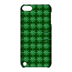 Snowflakes Square Apple Ipod Touch 5 Hardshell Case With Stand
