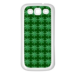 Snowflakes Square Samsung Galaxy S3 Back Case (White)