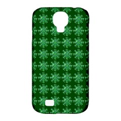 Snowflakes Square Samsung Galaxy S4 Classic Hardshell Case (pc+silicone)