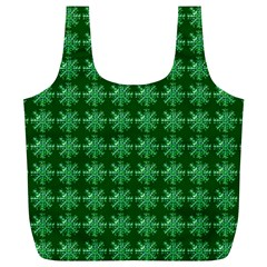 Snowflakes Square Full Print Recycle Bags (l)