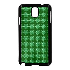 Snowflakes Square Samsung Galaxy Note 3 Neo Hardshell Case (Black)
