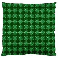 Snowflakes Square Large Flano Cushion Case (two Sides)