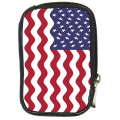 American Flag Compact Camera Cases