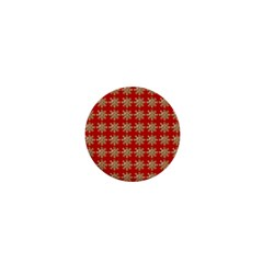 Snowflakes Square Red Background 1  Mini Buttons