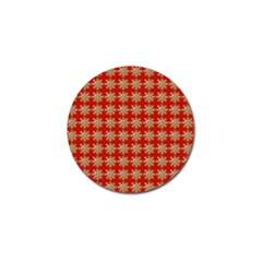 Snowflakes Square Red Background Golf Ball Marker (10 pack)