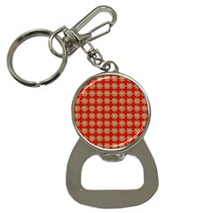 Snowflakes Square Red Background Button Necklaces