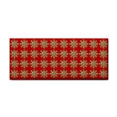Snowflakes Square Red Background Cosmetic Storage Cases