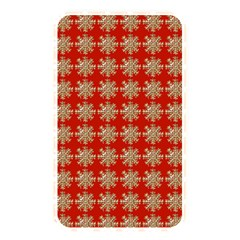 Snowflakes Square Red Background Memory Card Reader