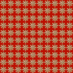 Snowflakes Square Red Background Magic Photo Cubes