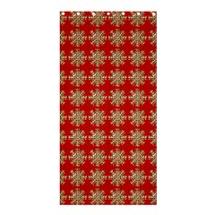 Snowflakes Square Red Background Shower Curtain 36  x 72  (Stall)