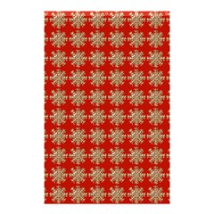 Snowflakes Square Red Background Shower Curtain 48  x 72  (Small)