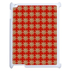 Snowflakes Square Red Background Apple iPad 2 Case (White)
