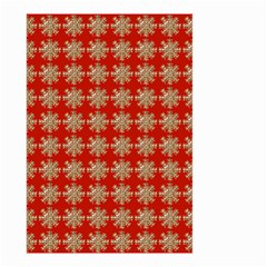 Snowflakes Square Red Background Small Garden Flag (two Sides)