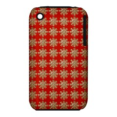 Snowflakes Square Red Background Iphone 3s/3gs