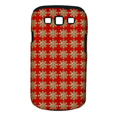 Snowflakes Square Red Background Samsung Galaxy S Iii Classic Hardshell Case (pc+silicone)