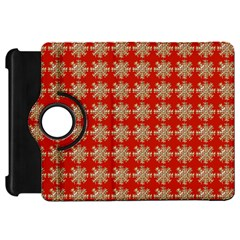 Snowflakes Square Red Background Kindle Fire Hd 7