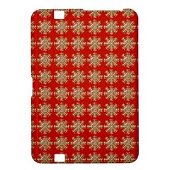 Snowflakes Square Red Background Kindle Fire Hd 8 9