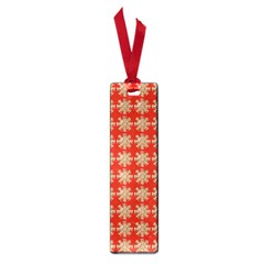 Snowflakes Square Red Background Small Book Marks