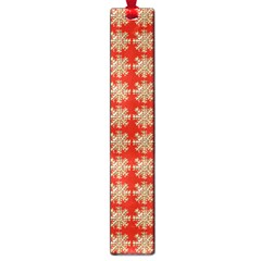 Snowflakes Square Red Background Large Book Marks