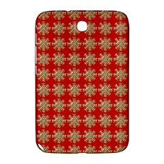 Snowflakes Square Red Background Samsung Galaxy Note 8.0 N5100 Hardshell Case