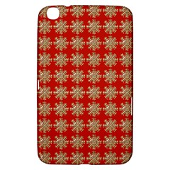 Snowflakes Square Red Background Samsung Galaxy Tab 3 (8 ) T3100 Hardshell Case