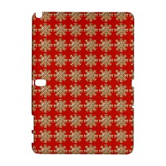 Snowflakes Square Red Background Galaxy Note 1