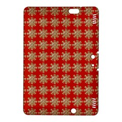 Snowflakes Square Red Background Kindle Fire HDX 8.9  Hardshell Case