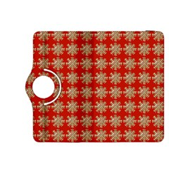 Snowflakes Square Red Background Kindle Fire Hdx 8 9  Flip 360 Case