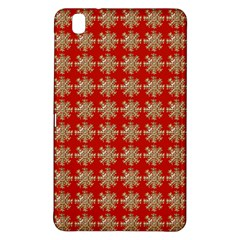 Snowflakes Square Red Background Samsung Galaxy Tab Pro 8 4 Hardshell Case